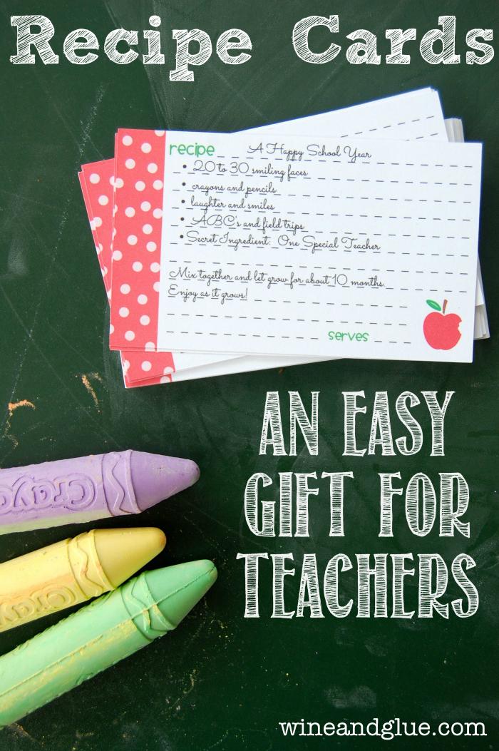 recipe cards  an easy diy teachers gift