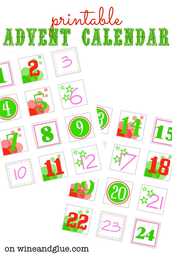Advent Calendar Printables : Diy advent calendar wine glue