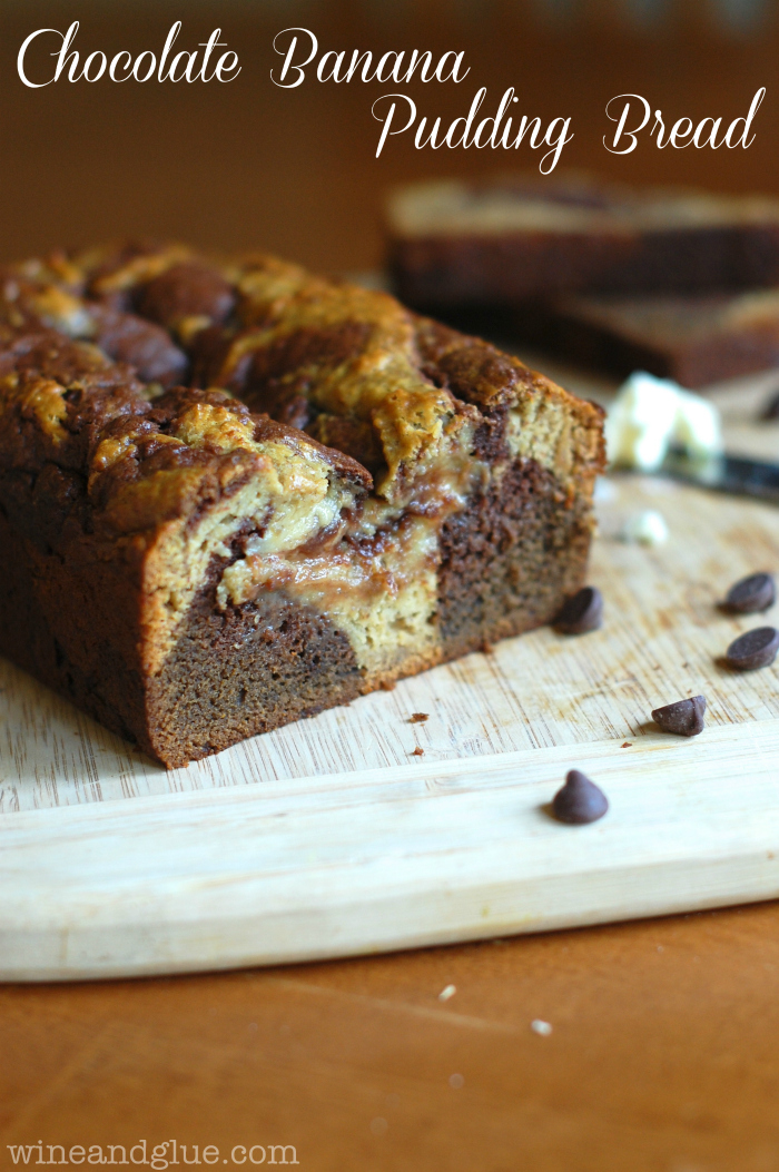 Chocolate Banana Pudding Bread! The best of both two breads marbled ...