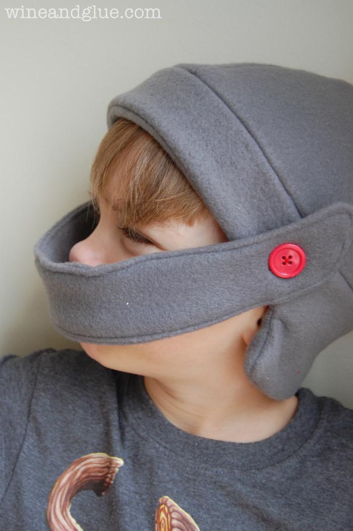 fleece knight helmet hat free pattern wine glue. Black Bedroom Furniture Sets. Home Design Ideas