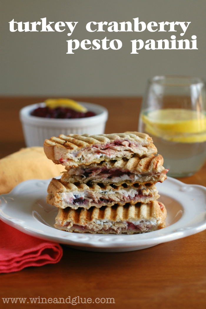 Turkey, Cranberry, & Pesto Panini