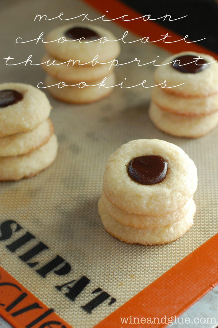 Mexican Chocolate Thumbprint Cookies | www.wineandglue.com